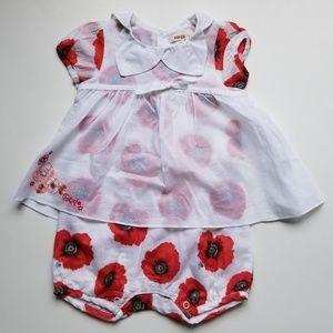 Kenzo Kids Infants Floral Sunsuit